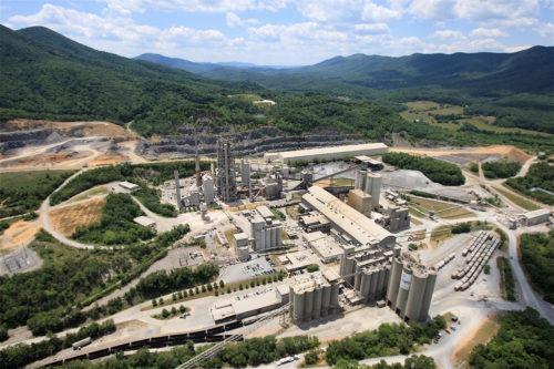 ΗΠΑ - εργοστάσιο τσιμέντου Roanoke
